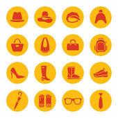 ícones de acessórios — Vetorial Stock
