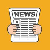 Newspaper icon — Stock Vector