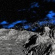 Foto Stock: Asteroids above planet
