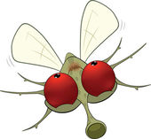 Mosquito.cartoon pequeno — Vetorial Stock