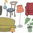 Stock Vector: Furniture complete set