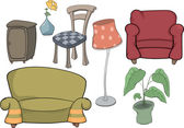 The furniture complete set — Stock Vector