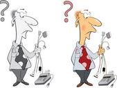 Office worker cartoon — Stock Vector