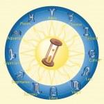 Hourglass hours — Stock Vector #1352356