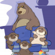 Big bear family . Cartoon - Stock Vector