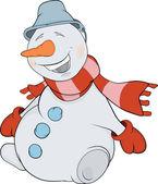 Christmas Snowball. Cartoon — Stock Vector