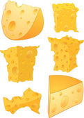 Cheese clip art — Stock Vector