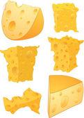 Cheese clip art — Stock Vector