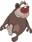 Brown Bear. Cartoon — Stock Vector