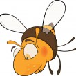 Royalty-Free Stock Vector Image: Sad bee. Cartoon