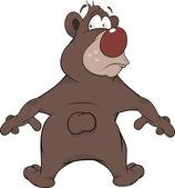 бурый медведь. мультфильм — Cтоковый вектор