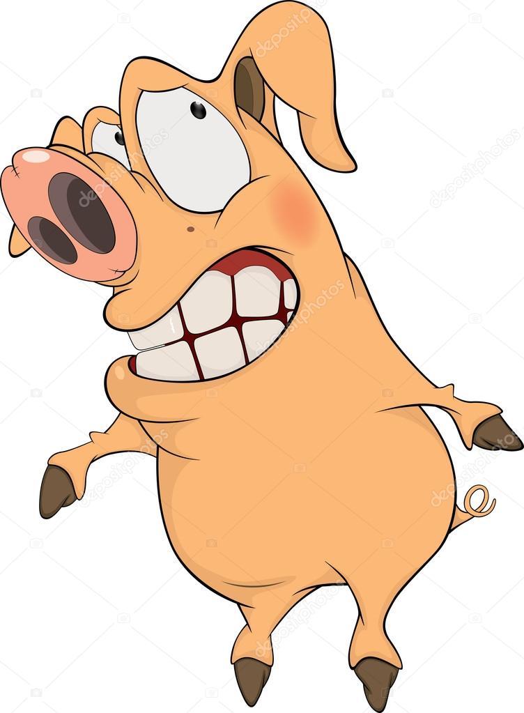 猪.卡通 — 图库矢量图像08