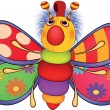 Soft toy, the toy butterfly. Cartoon - Stock Vector