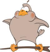 Sparrow. Cartoon — Stock Vector