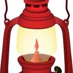 gammal röd lampa — Stockvektor