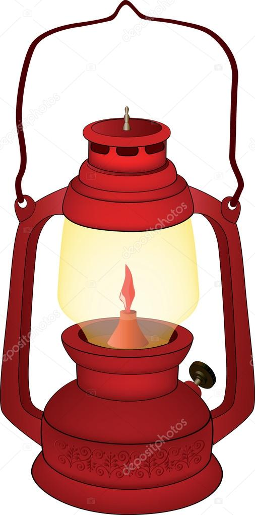 Old Oil Lamps Vector -...