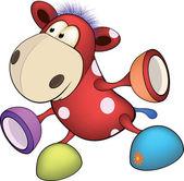 Zacht stuk speelgoed, paard. cartoon — Stockvector