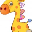 Toy giraffe cartoon — Stock Vector