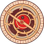 Astrolabe cartoon — Stock Vector