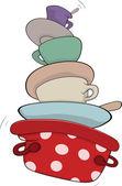 厨具卡通 — 图库矢量图片