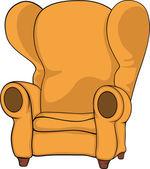 Old armchair — Stock Vector