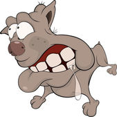 The hunting dog. Boxer. Cartoon — Stock Vector