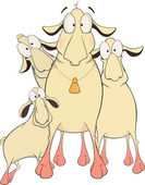 Sheeps. desenhos animados — Vetorial Stock