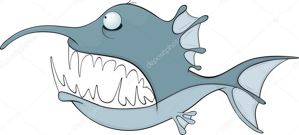Pesce cartone animato — vettoriali stock liusaart