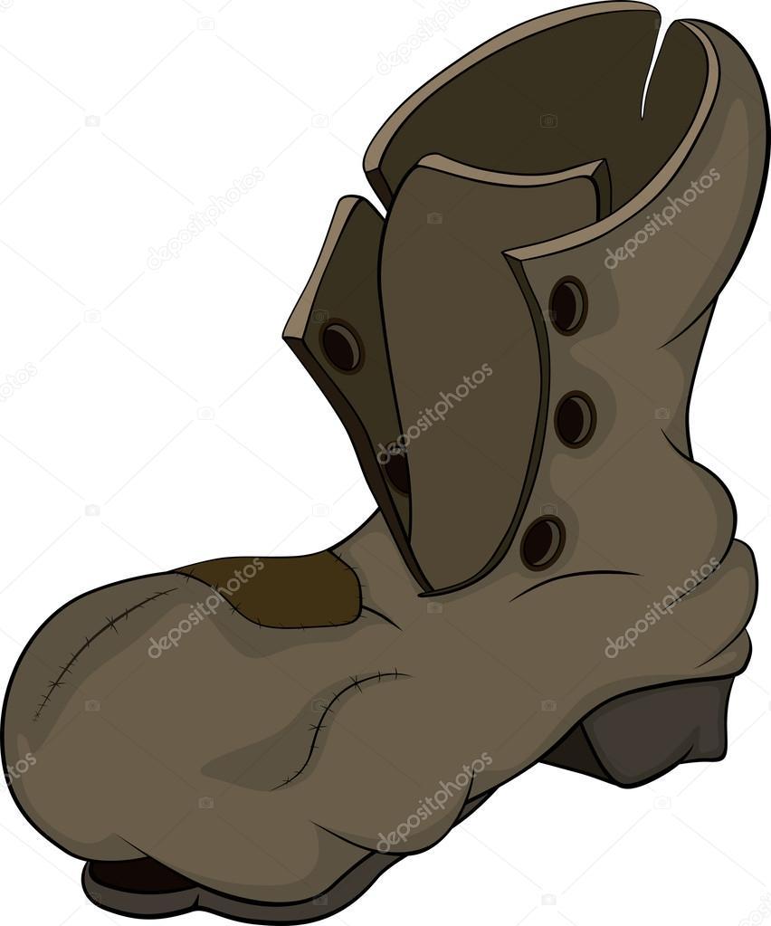 旧靴子 — 图库矢量图像08