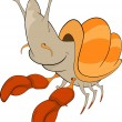 Vector de stock : Crab cartoon