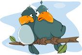 Passarinhos. desenhos animados — Vetorial Stock