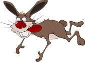 Cheerful hare.Rabbit.Cartoon — Stock Vector