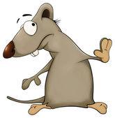 Rat cartoon — Stock Photo