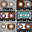 Stock Vector: Complete set of different Audio Cassettes Tapes