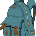 School backpack. Cartoon — Stock Vector