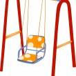 Stock Vector: Children's swing