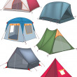 Set of tourist tents — Stock Vector #31515651