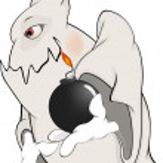 dibujos animados de espíritu y bomba — Vector de stock