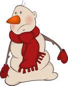 Cartoon snowman — Stock Vector