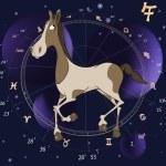 Chinese horoscope year of horse cartoon — Stock Vector #36704891