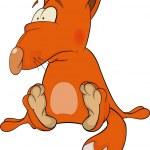 Young fox cartoon — Stock Vector