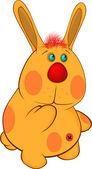 Кролик мультфильм мягкая игрушка — Cтоковый вектор