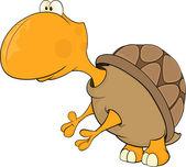Cartone animato tartaruga — Vettoriale Stock