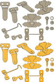 The complete set of latches — Stockvektor