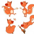 Stock Vector: Squirrels clip art
