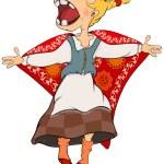 The cheerful girl. Cartoon — Stock Vector