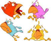 A set of birdies cartoon — Vetorial Stock
