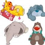 Set of soft toys cartoon — Stock Vector #42849579