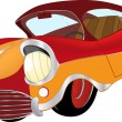 A red toy car cartoon — Stock Vector #49934157