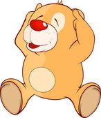 A stuffed toy bear cub cartoon — Stock Vector